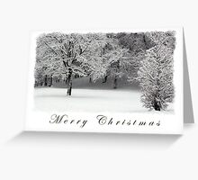Trees and Snow Merry Christmas Greeting Card