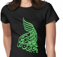 ARABIC SCRIPT 1 SBLND Womens Fitted T-Shirt
