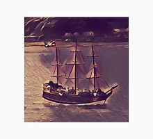 Pirate Ship Vintage Style Unisex T-Shirt