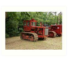 Vintage McCormick Deering Farm Tractor Art Print