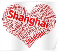 Shanghai - Red Heart Poster