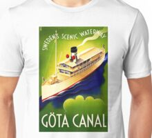 Vintage Gota Canal Sweden 1900 Travel Poster Unisex T-Shirt