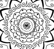 Simple black and white mandala Sticker