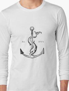 Festina Lente - Aldus Manutius Printer's Mark Long Sleeve T-Shirt