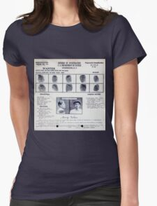 Baby Face Nelson Mugshot and Fingerprints Womens Fitted T-Shirt