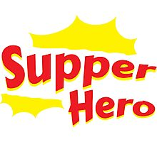 Supper Hero Parody Photographic Print