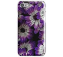Bold Purple and White Flowers iPhone Case/Skin