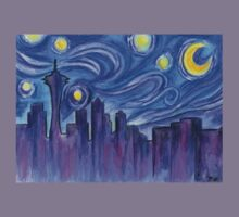 Starry Night Over Seattle Kids Clothes