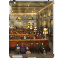 Train Station - Waiting in Grand Central Station 1904 iPad Case/Skin