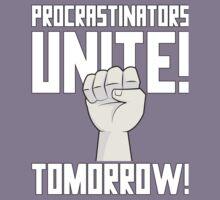 Procrastinators Unite Tomorrow T Shirt Kids Tee