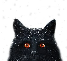 Black Cats Get a Bad Rap - cat art by LindaAppleArt