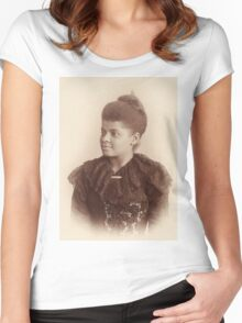 Potrait of Ida B. Wells by Mary Garrity (1893) Women's Fitted Scoop T-Shirt