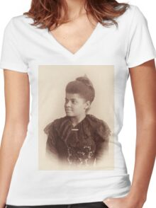 Potrait of Ida B. Wells by Mary Garrity (1893) Women's Fitted V-Neck T-Shirt