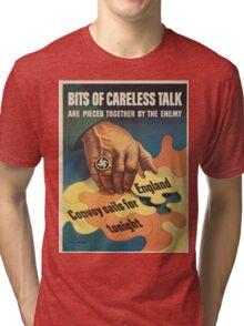 Vintage poster - Careless Talk Tri-blend T-Shirt