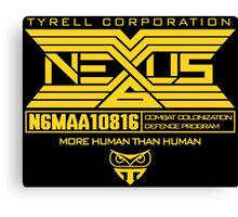 Blade Runner Nexus 6 Canvas Print