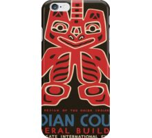 Vintage poster - Indian Court Federal Buildinng iPhone Case/Skin