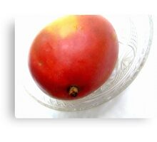 Mango on a Glass Dish Canvas Print
