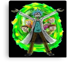 rick and morty 3 Canvas Print