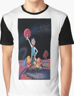 rick and morty in space Graphic T-Shirt