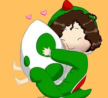 Game Grumps Danny in Yoshi Kigurumi by claire-fairy