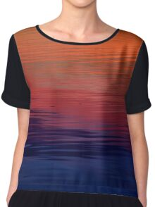 Ocean Sunset, orange, red, purple, black Chiffon Top