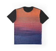 Ocean Sunset, orange, red, purple, black Graphic T-Shirt