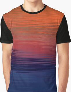 Ocean Sunset, orange, red, purple, black Graphic T-Shirt