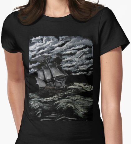 rough seas Womens Fitted T-Shirt