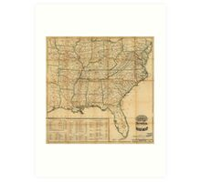 The Historical Civil War Map (1862) Art Print