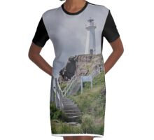Last of the 100 Steps Leading Up to the Lighthouse Graphic T-Shirt Dress