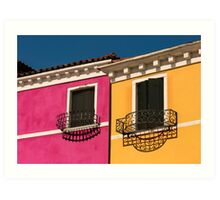 Colours of Burano Italy Art Print