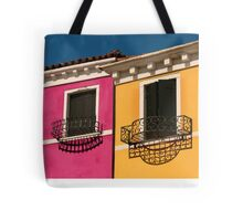 Colours of Burano Italy Tote Bag