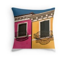 Colours of Burano Italy Throw Pillow