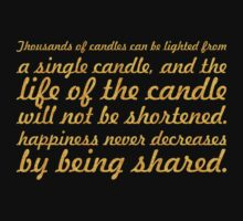 "Thousands of candles... ""Buddha"" Inspirational Quote Kids Tee"