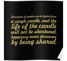 "Thousands of candles... ""Buddha"" Inspirational Quote Poster"