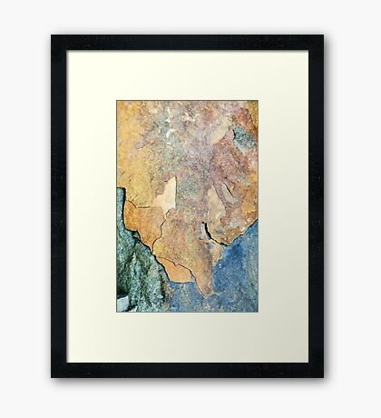 Mineral Abstract Framed Print