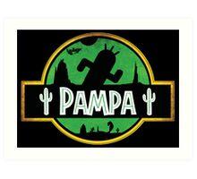 <FINAL FANTASY> Pampa Jurassic Park Style Art Print