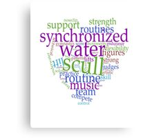 Sychronized Swimming Word Cloud Design Canvas Print