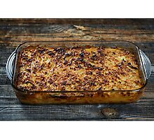 Macaroni with cheese, oven baked Photographic Print