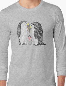 Swirly Penguin Family Long Sleeve T-Shirt