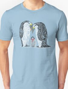 Swirly Penguin Family Unisex T-Shirt