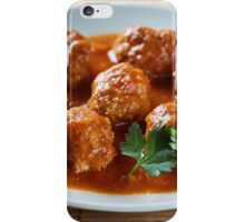 Beef and pork meatballs iPhone Case/Skin