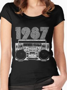 1987 Boombox Women's Fitted Scoop T-Shirt