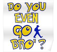do you even go bro ? Poster