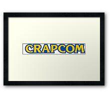 CRAPCOM (CAPCOM Parody) Framed Print