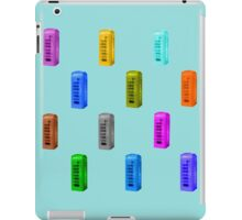 Phone booth on limpet shell background iPad Case/Skin