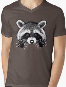 Little raccoon buddy Mens V-Neck T-Shirt