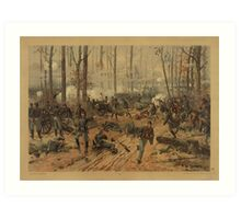Civil War Battle of Shiloh by Thure de Thulstrup (1888) Art Print