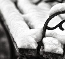 Bench in Snow Sticker