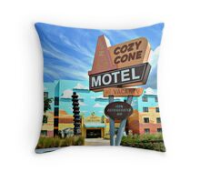 Cozy Cone Motel Throw Pillow